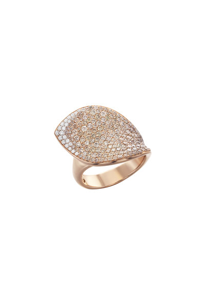 Pasquale Bruni - 18K Rose Gold Giardini Segretti Diamond Ring