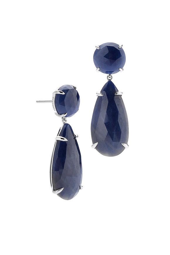Paolo Costagli 18K White Gold Blue Sapphire Earrings