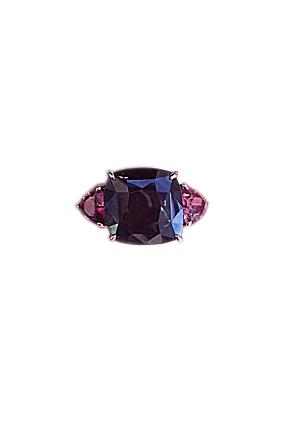 Paolo Costagli 18K Rose  Gold Spinel & Garnet Ring