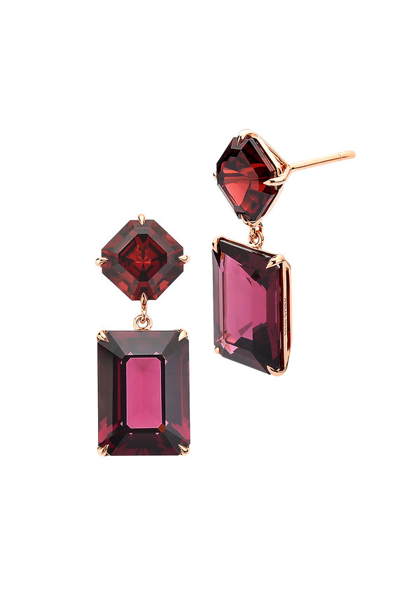 Paolo Costagli 18K Rose Gold Garnet Earrings