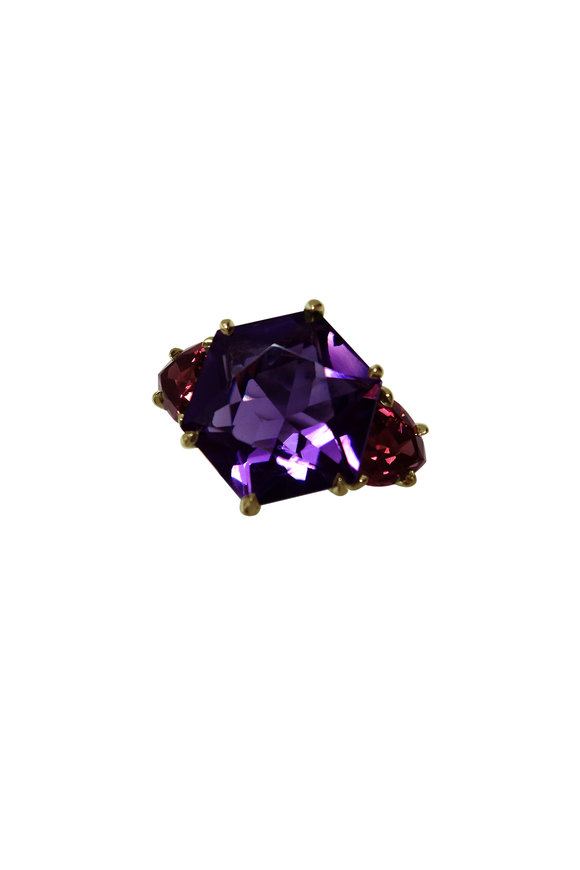 Paolo Costagli 18K White  Gold Amethyst Ring