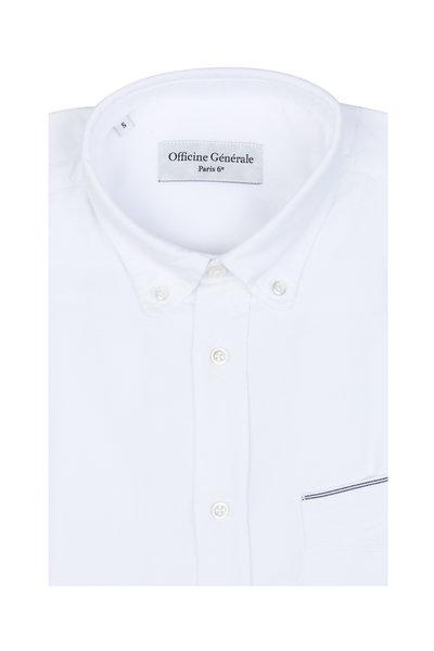 Officine Generale - White Oxford Sport Shirt