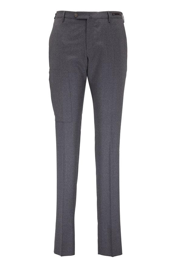 PT Pantaloni Torino Charcoal Gray Stretch Wool Techno Pant