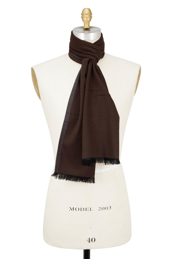 Chelsey Imports Brown & Gray Silk Scarf