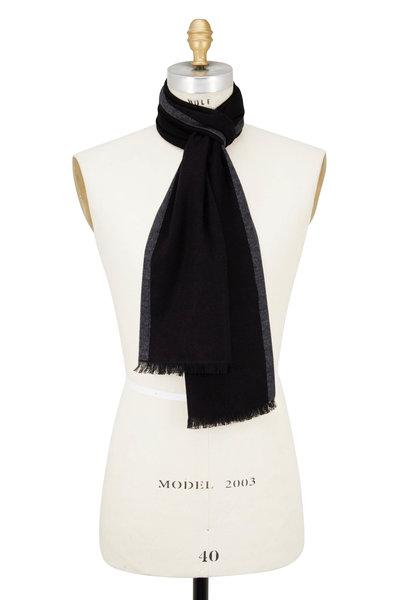 Chelsey Imports - Black & Gray Silk Scarf