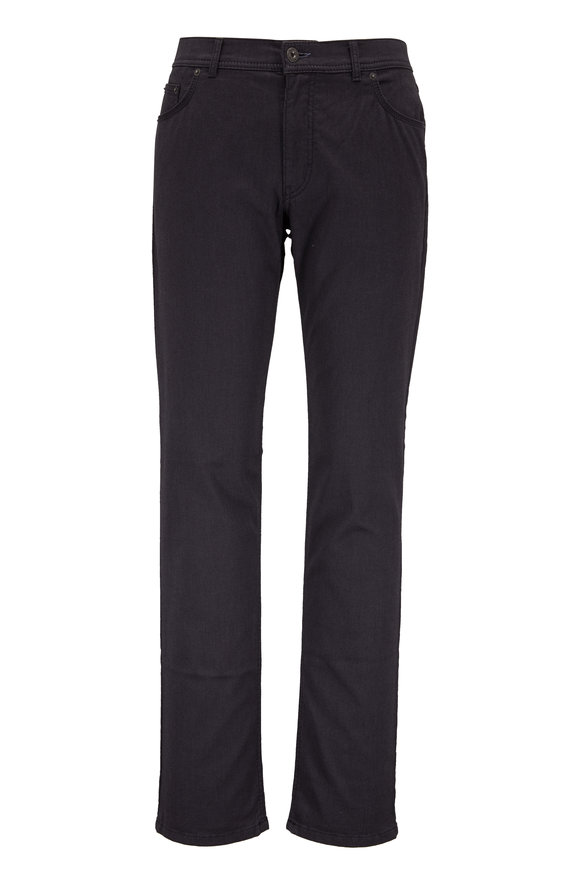 Brax Cooper Fancy Charcoal Gray Five Pocket Pant