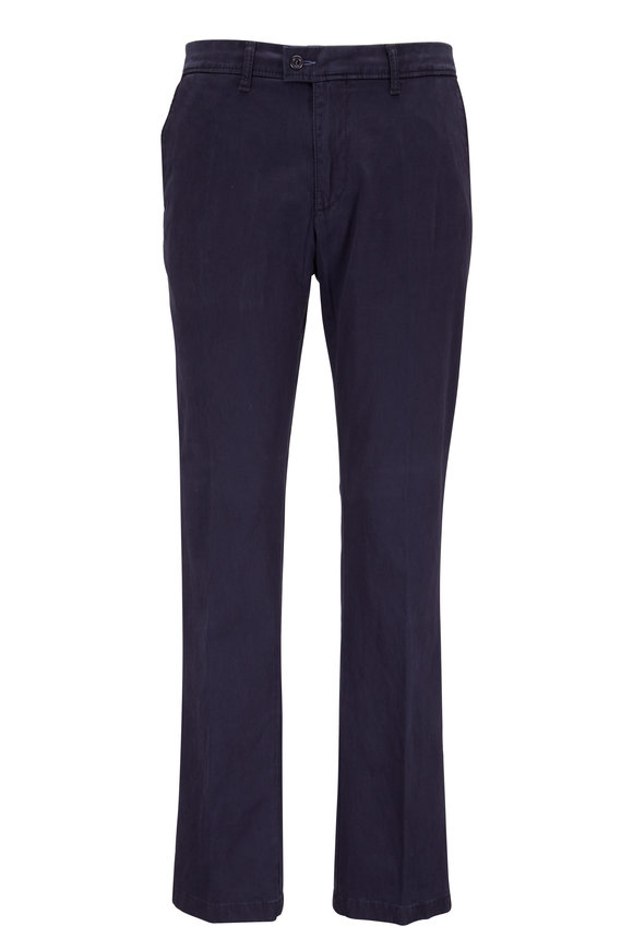 Brax Evans Navy Flat Front Pant