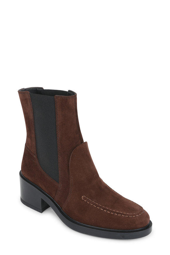 Tod's Brown Suede Ankle Boot, 50mm