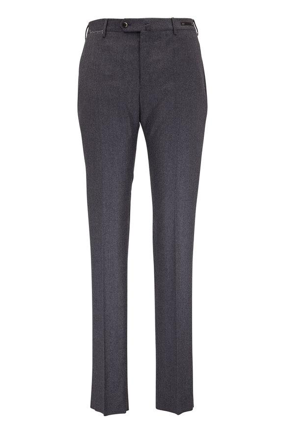 PT Pantaloni Torino Charcoal Gray Wool Blend Slim Fit Pant