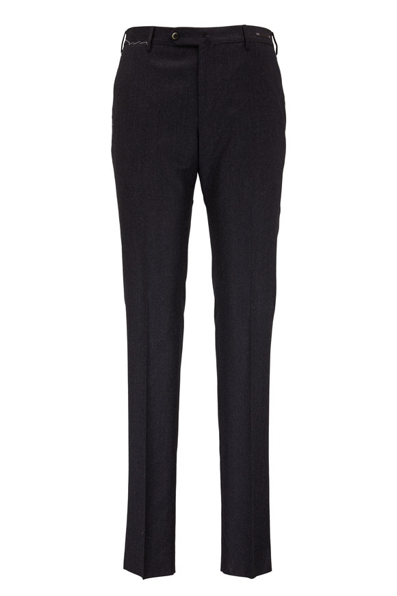 PT Pantaloni Torino Charcoal Gray Cashmere & Wool Slim Fit Pant