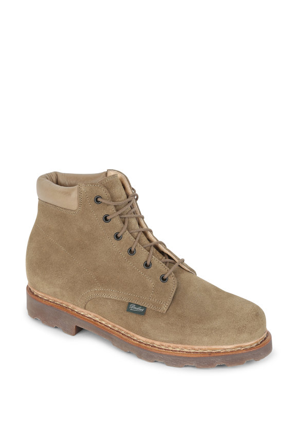 Paraboot Bergerac Light Army Green Suede Boot