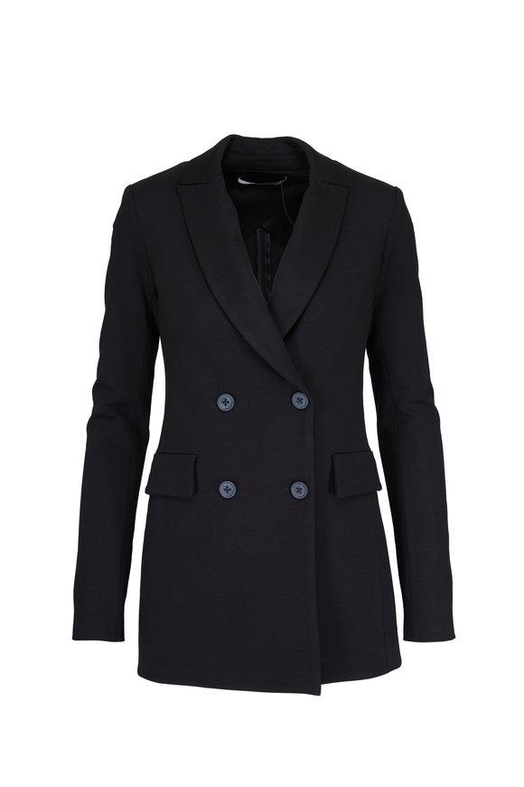 Rosetta Getty Black Jersey Double Breasted Jacket