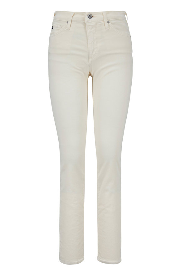 AG - Adriano Goldschmied The Prima Ivory Corduroy Cigarette Leg Pant
