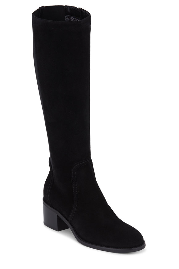Aquatalia Jordan Black Suede Weatherproof Boot, 50mm