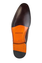 Bontoni - Wood Leather Medallion Derby Shoe