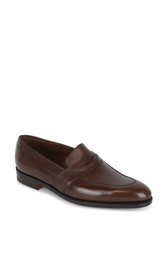John Lobb Adley Cafe Leather Penny Loafer