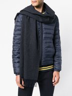 Canada Goose - Navy & Charcoal Gray Wool Scarf