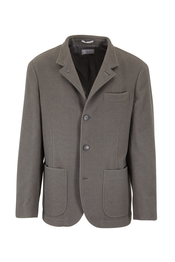 Brunello Cucinelli Olive Green Cashmere Jacket