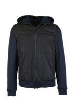 Aztech Mountain - Navy Blue Quilted Hooded Jacket