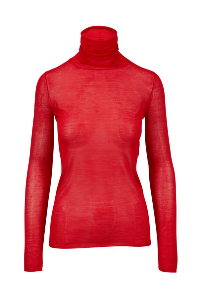 Elizabeth & James - Cole Bright Red Sheer Turtleneck