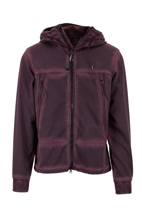 CP Company Goggle Over Dyed Purple Jacket