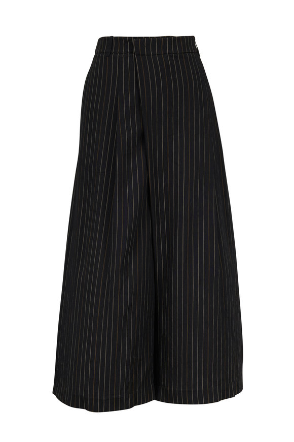 Vince Black & Taupe Bar Striped Culotte