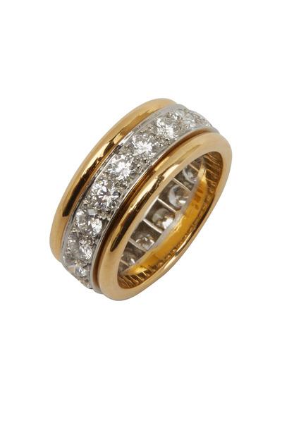 Oscar Heyman - Yellow Gold & Platinum White Diamond Guard Ring