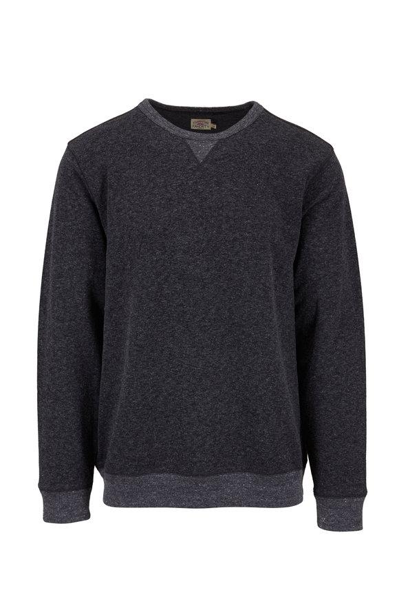 Faherty Brand Washed Black Crewneck Sweatshirt