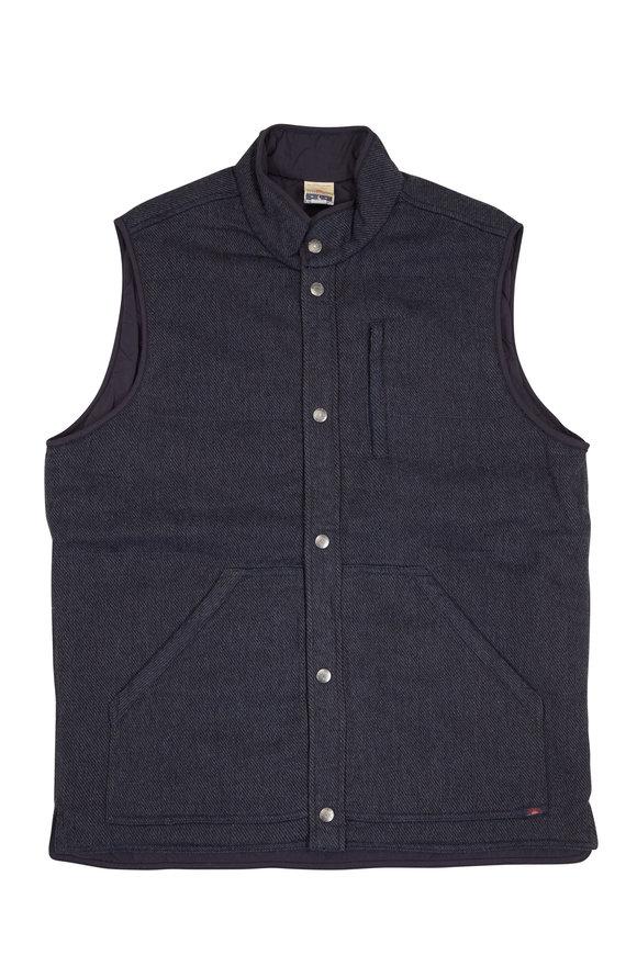 Faherty Brand Gunnison Indigo & Charcoal Reversible Vest