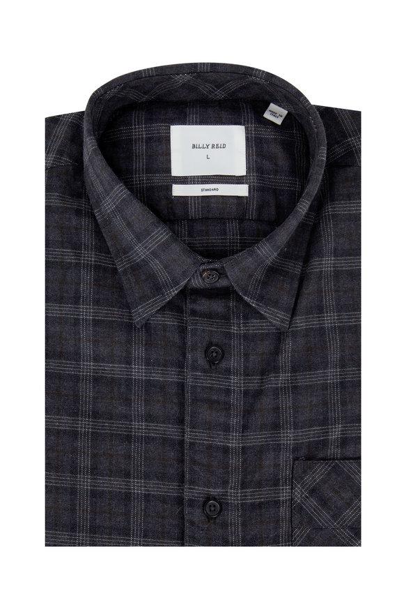 Billy Reid Gray Plaid Standard Fit Sport Shirt