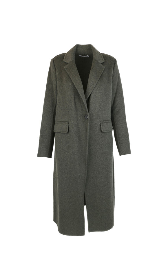 Vince Green Wool & Alpaca Blend Coat