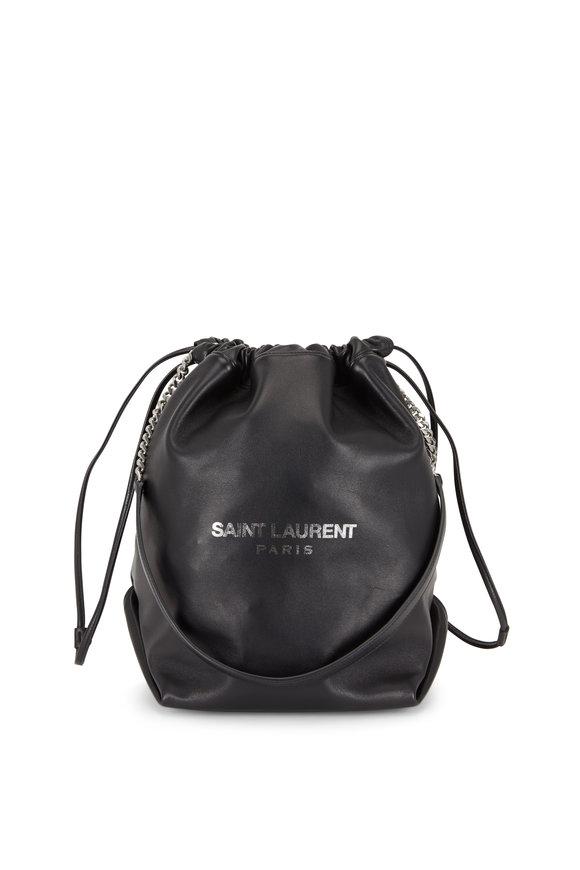 Saint Laurent Teddy Black Nappa Leather Bucket Bag