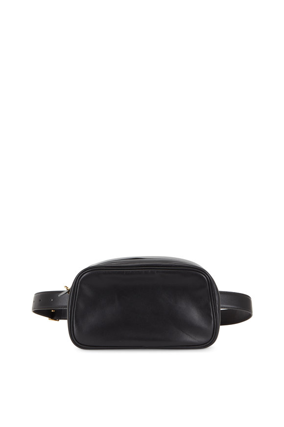 The Row Black Nappa Leather Belt Bag