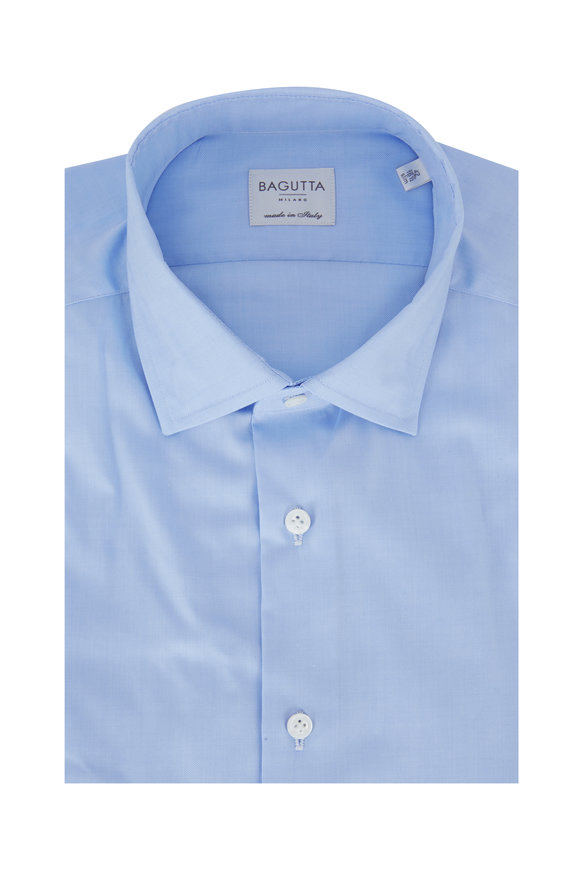 Bagutta Light Blue Slim Fit Dress Shirt