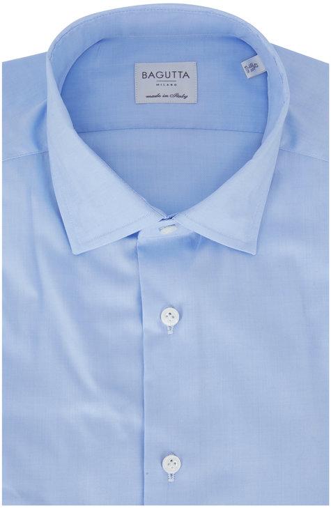 Bagutta Light Blue Slim Fit Dress Shirt