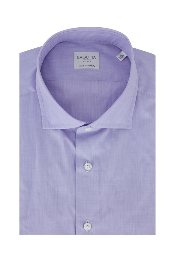 Bagutta  Lilac Slim Fit Dress Shirt