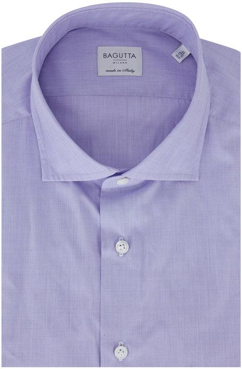 Bagutta  Lilac Slim Fit Dress Shirt