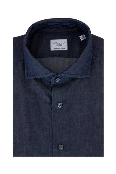 Bagutta - Chambray Slim Fit Dress Shirt