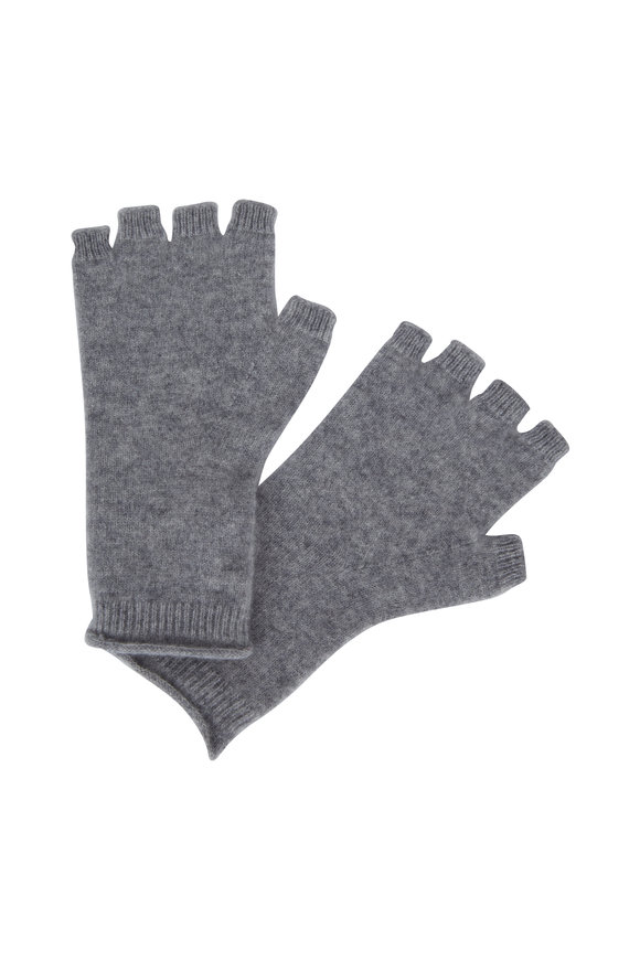 Vince Gray Cashmere Fingeless Gloves