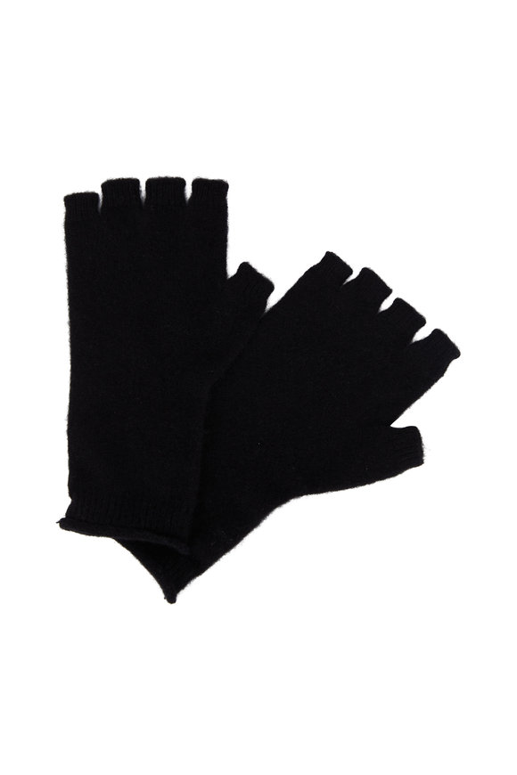 Vince Black Cashmere Fingerless Gloves