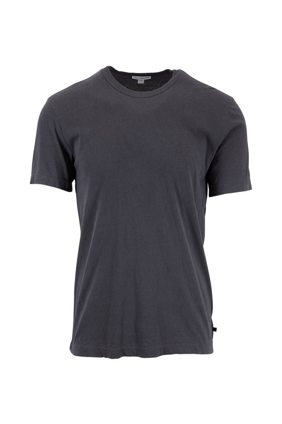 James Perse Carbon Gray Cotton Crewneck T-Shirt