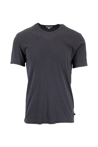 James Perse - Carbon Gray Cotton Crewneck T-Shirt