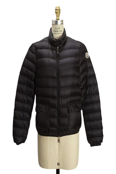 Moncler - Waist Length Puff Patch Coat With Pockets