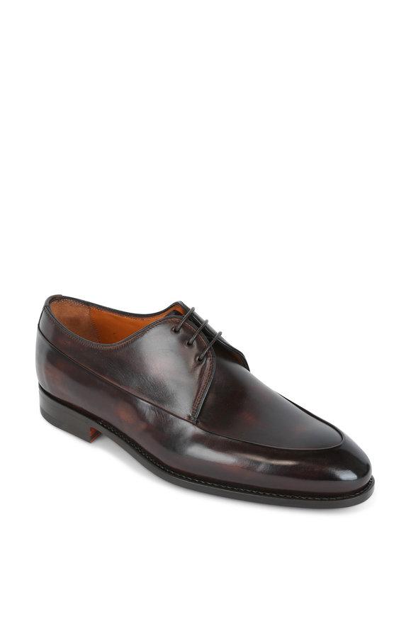 Bontoni Borgonero Chocolate Leather Derby Shoe
