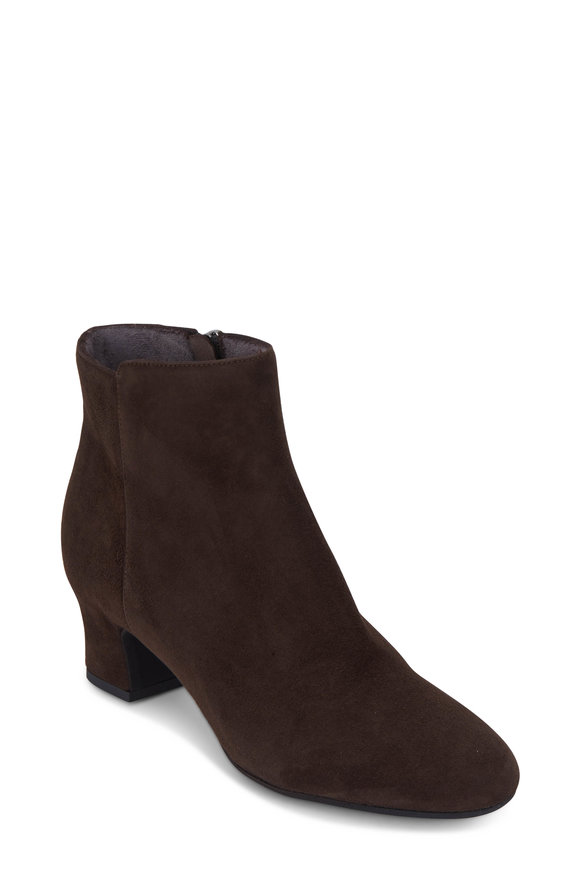 Pas de Rouge Alfa Brown Suede Weatherproof Bootie, 50mm