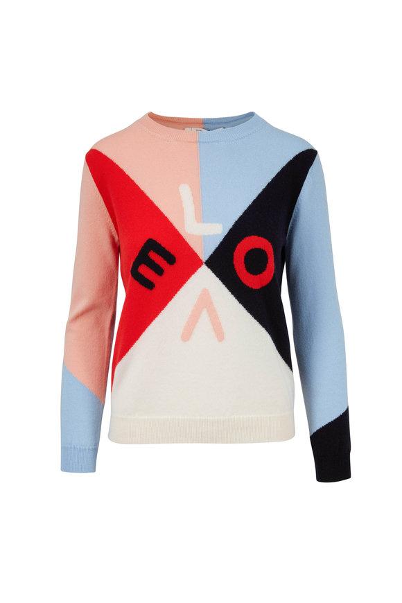 Chinti & Parker Mexicano Colorblock LOVE Cashmere Sweater
