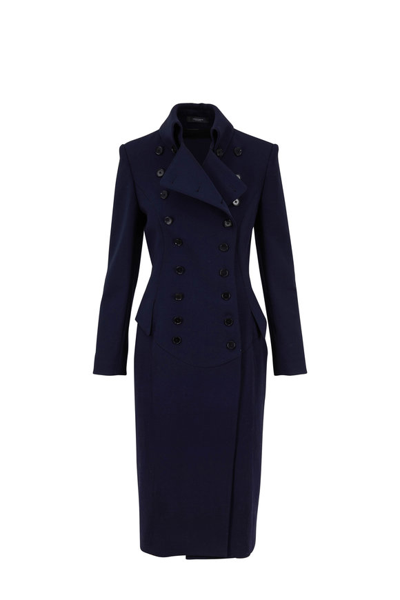 Norisol Ferrari La Donna Dark Indigo Double-Breasted Coat
