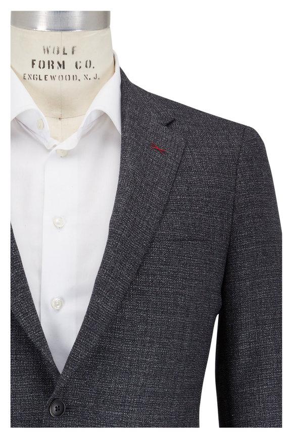 Samuelsohn Charcoal Gray Wool Tic Sportcoat
