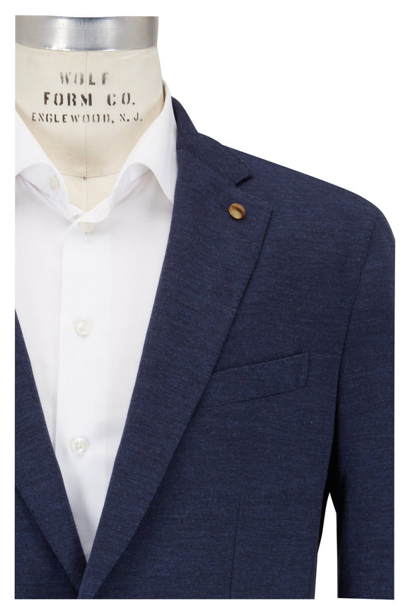 Peter Millar Barch Navy Blue Soft Jersey Sportcoat