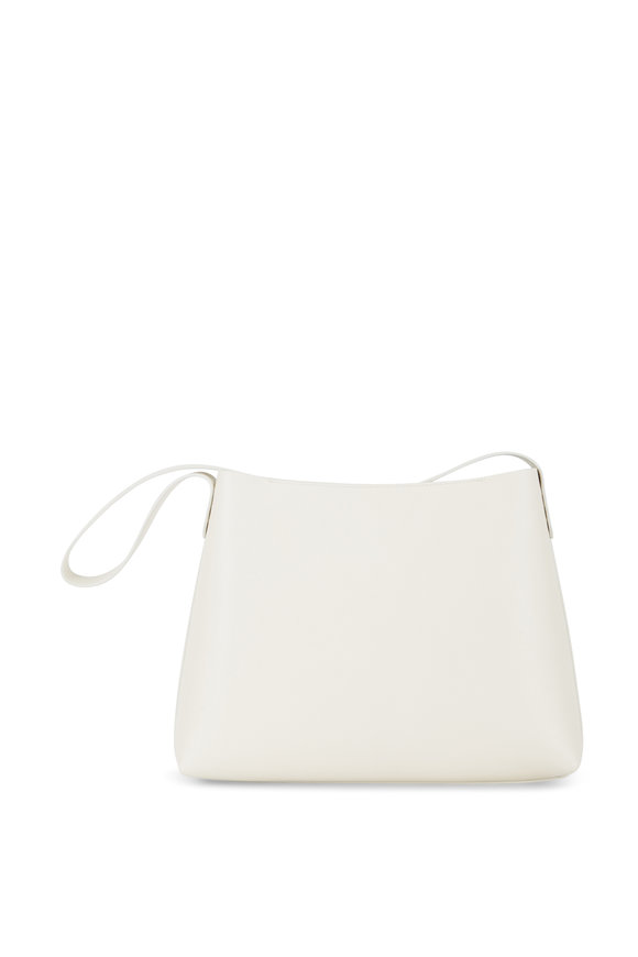 Mansur Gavriel Créme Pebbled Leather Shoulder Bag